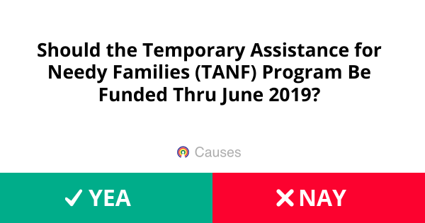 Should the Temporary Assistance for Needy Families (TANF